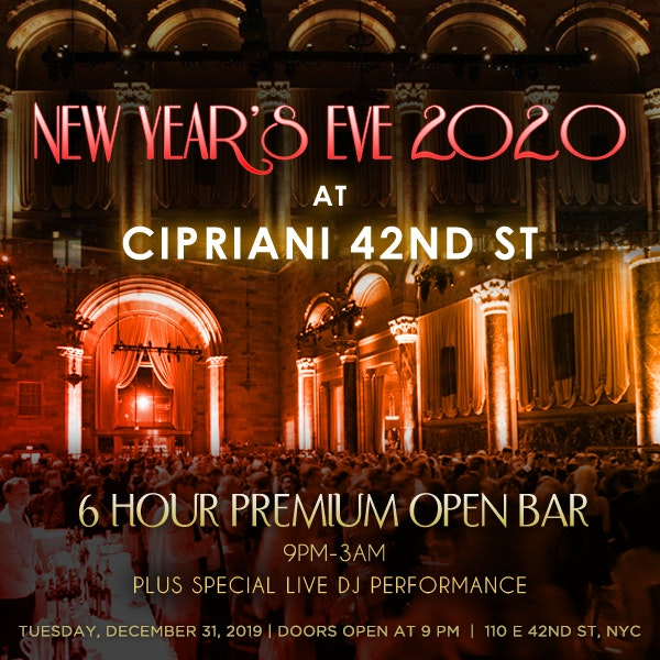 Cipriani NYC Times Square New Years Eve 2018