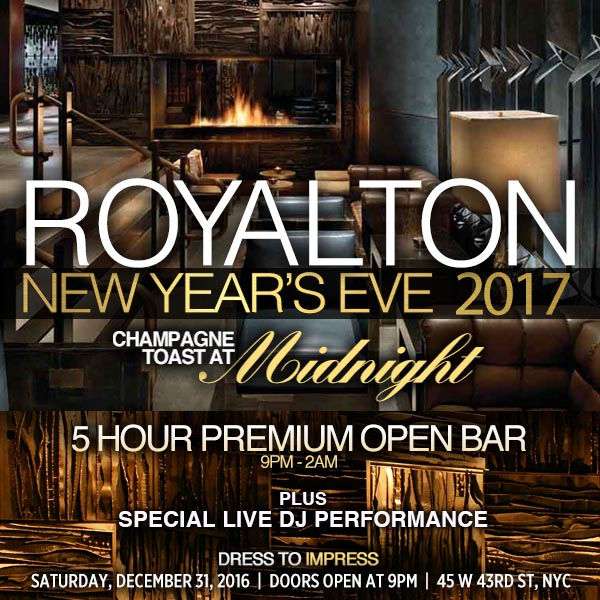 New Years Eve at Royalton NYC | NYC New Years Eve 2021