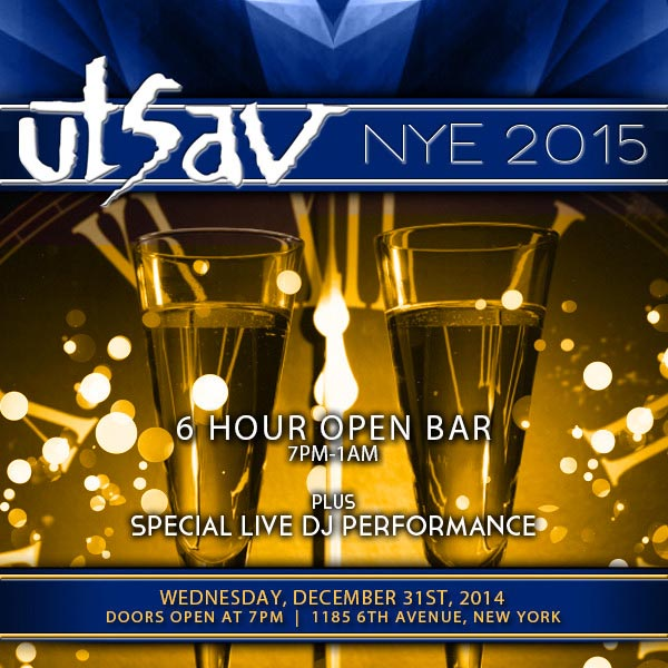 New Years Eve at Utsav NYC  NYC New Years Eve 2021