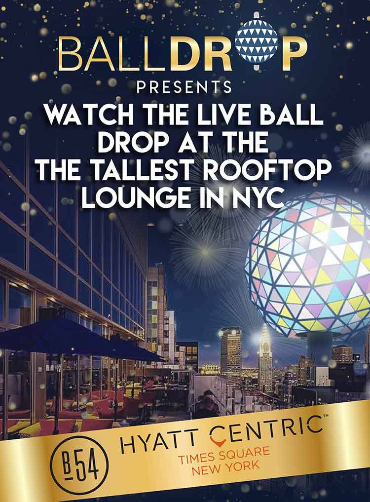 Bar 54 at Hyatt Centric Times Square New Years Eve 2019