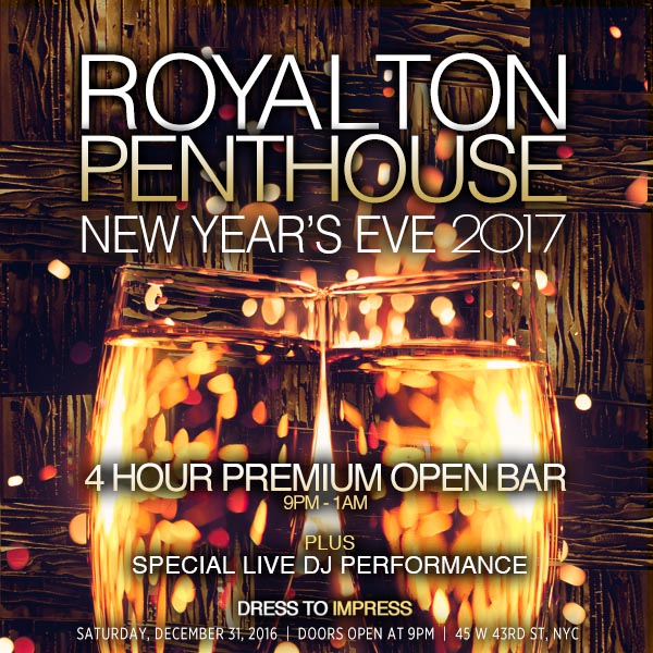 The Penthouse at The Royalton Hotel New Years Eve 2021