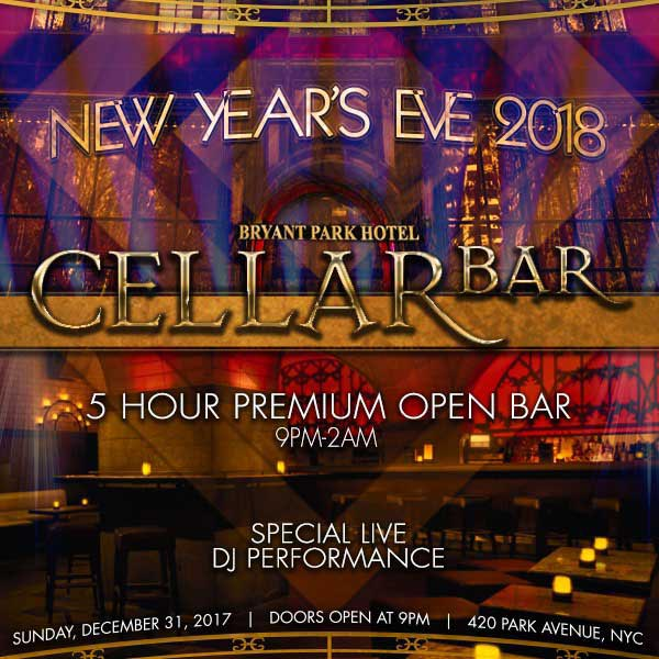 Cellar Bar Times Square New Years Eve 2018