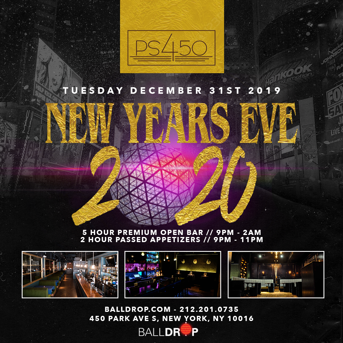 PS 450 NYC New Years Eve 2021