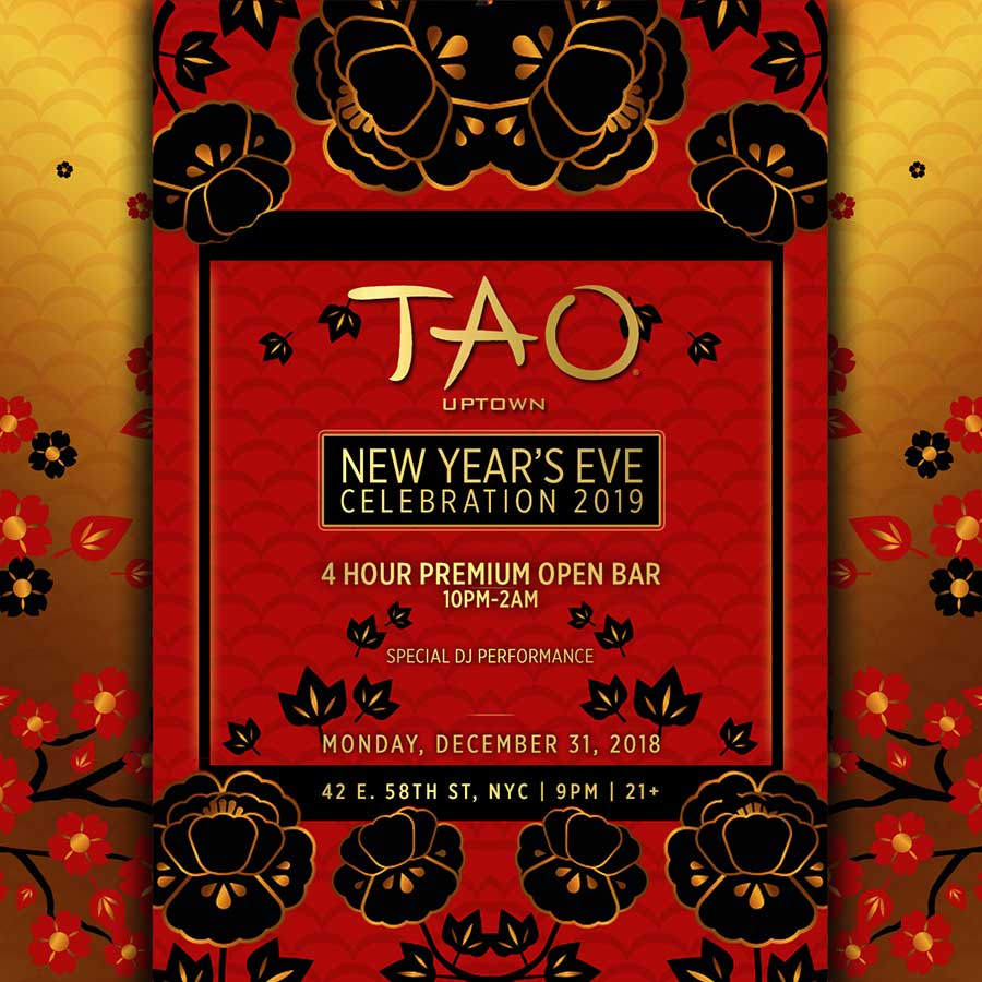 Tao New York New Years Eve 2021