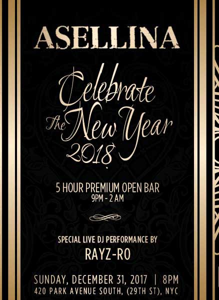 Asellina NYC New Years Eve 2022