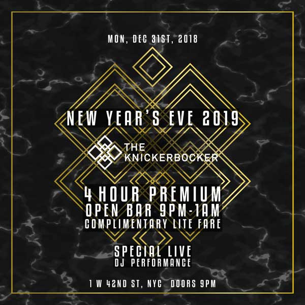 The Knickerbocker Times Square New Years Eve 2021
