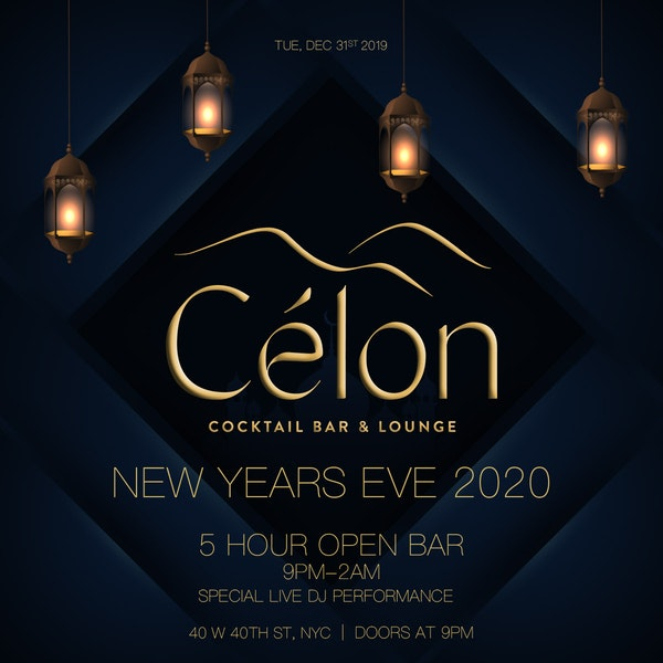 New Years Eve at Celon Cocktail Bar and Lounge | NYC New Years Eve 2021