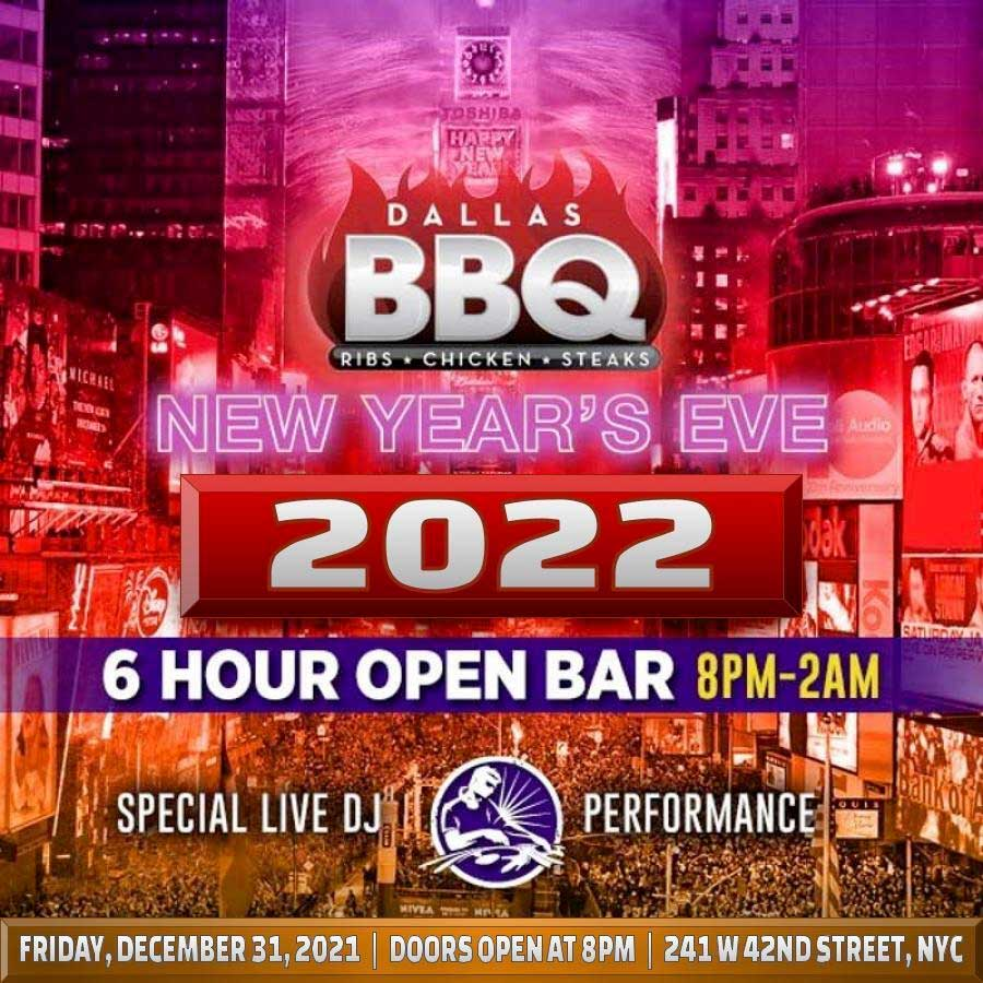 Dallas BBQ Times Square New Years Eve 2020