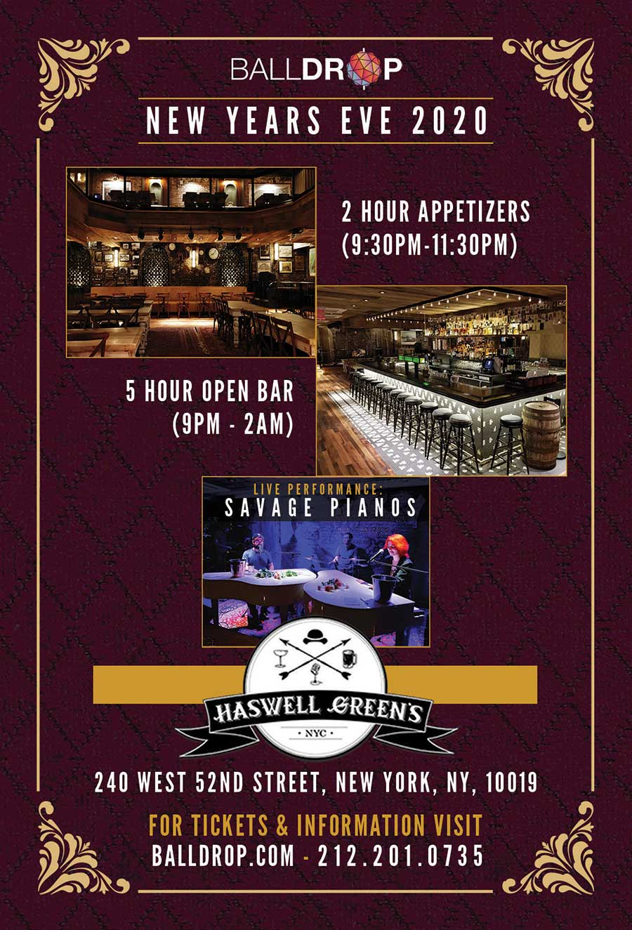 Haswell Greens Times Square New Years Eve 2021