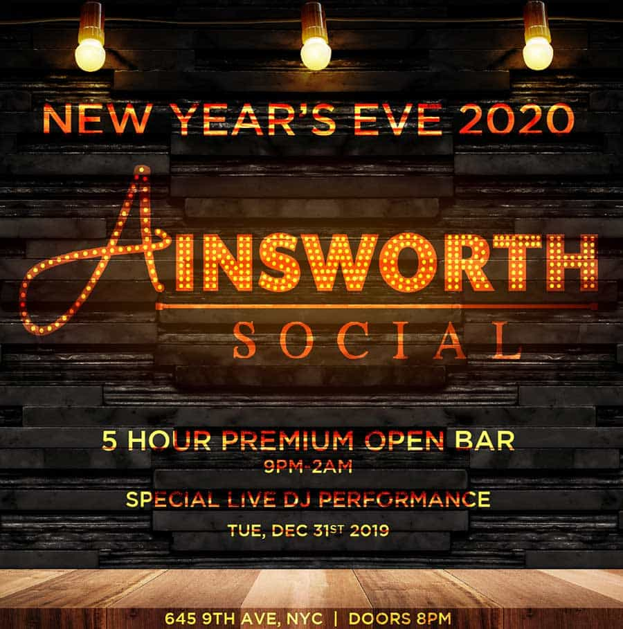 Ainsworth Social Times Square New Years Eve 2021