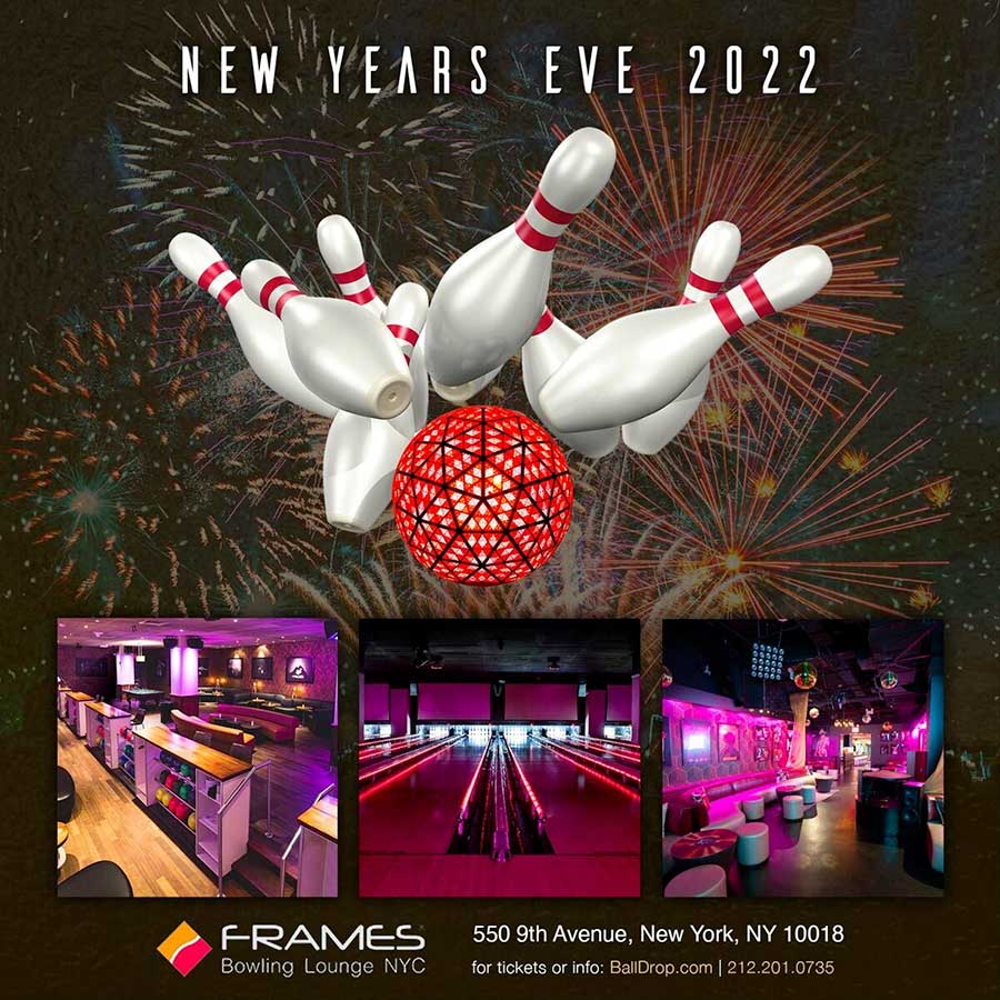 New Years Eve At Frames Bowling Lounge Nyc New Years Eve 2020