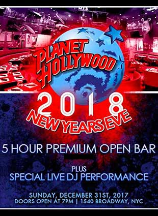 Planet Hollywood Times Square New Years Eve 2019