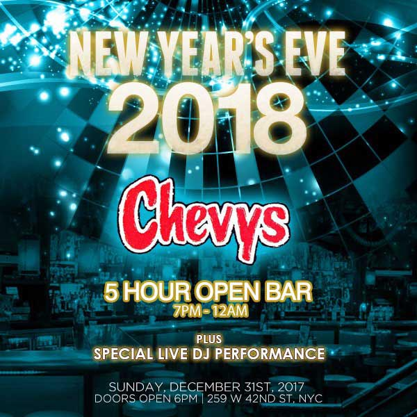 Chevy's Times Square New Years Eve 2020