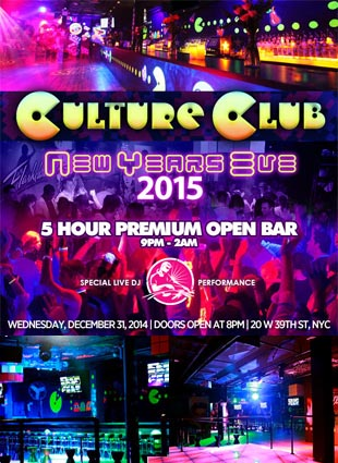 Culture Club NYC New Years Eve 2021