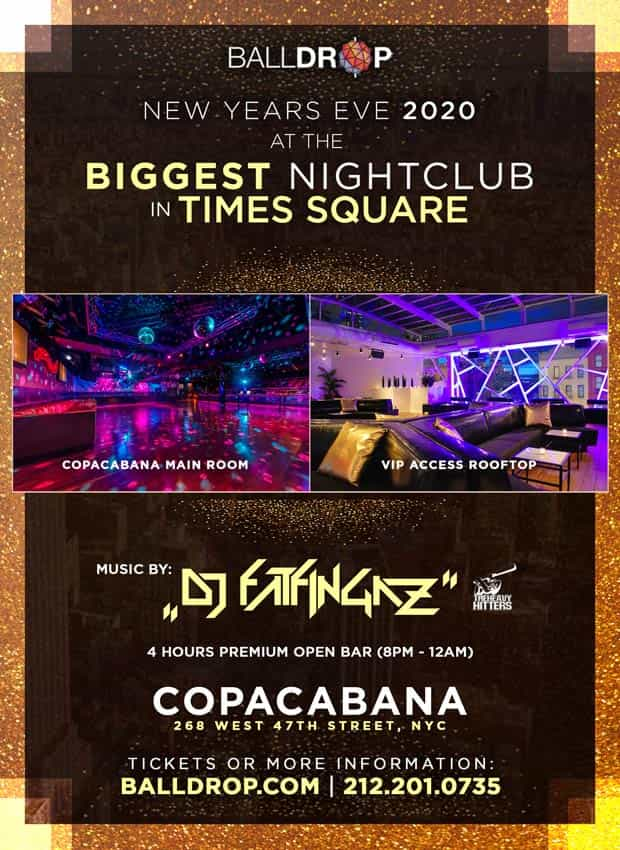 Copacabana Times Square New Years Eve 2018