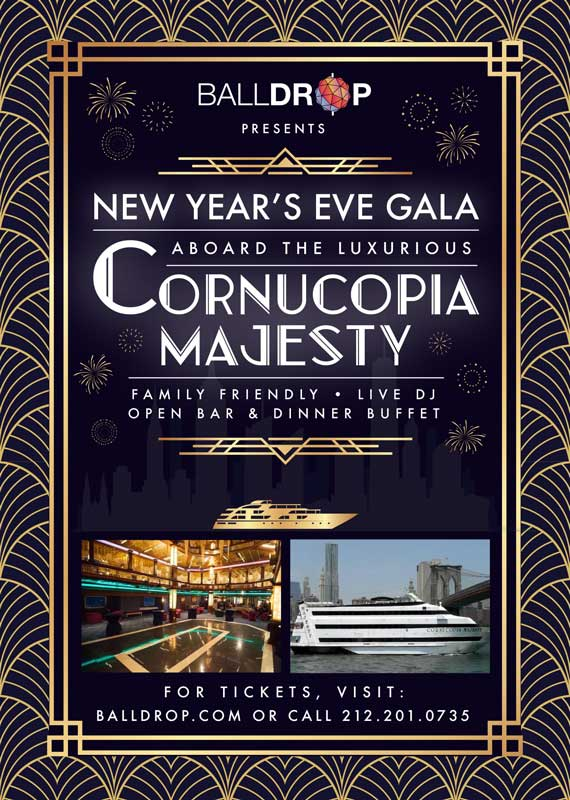 Cornucopia Majesty NYC Cruise New Years Eve 2022