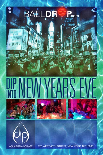 New Years Eve At DIP Ultra Lounge At Grace Hotel