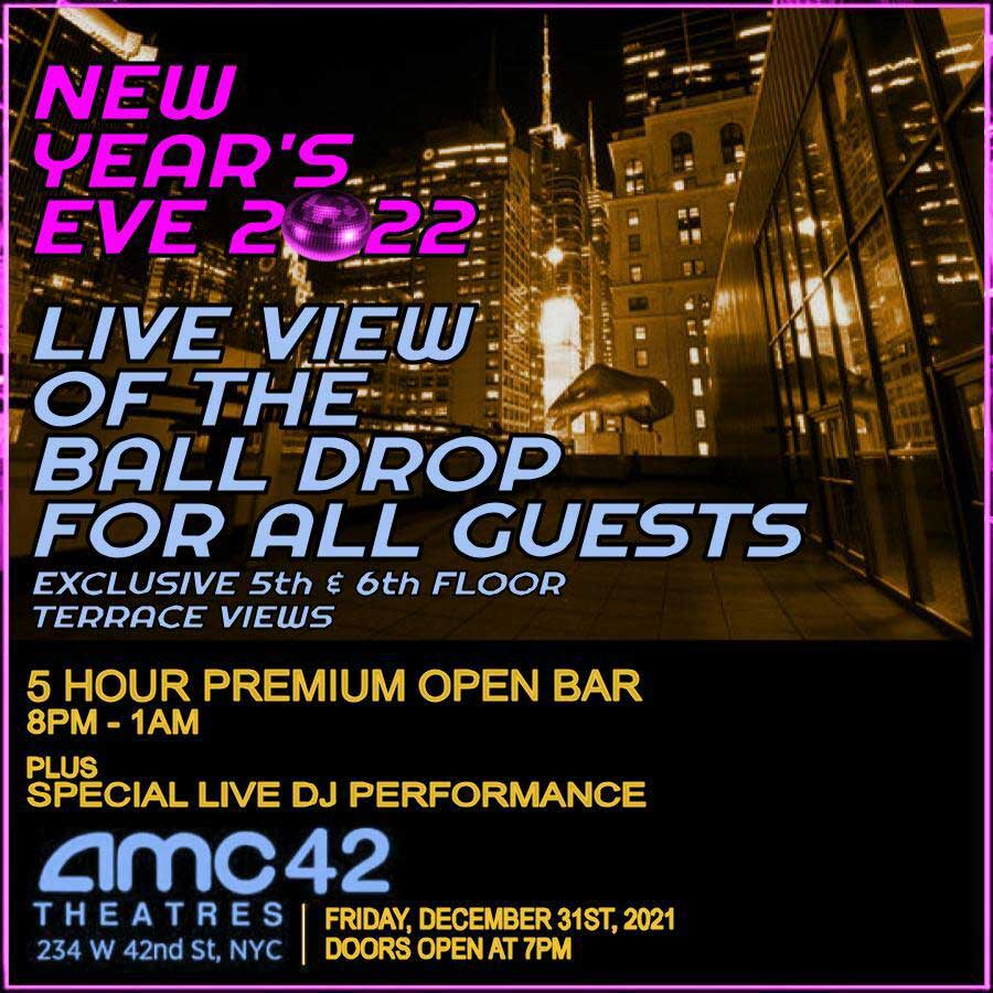 AMC 42nd Street Times Square New Years Eve 2021