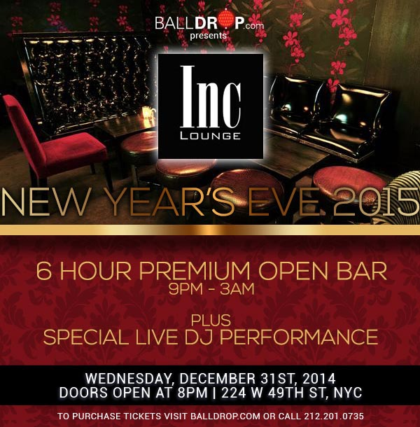 New Years Eve at INC Lounge at Time Hotel | NYC New Years ...