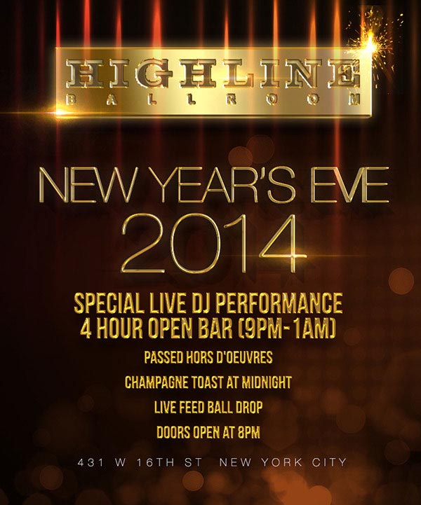 New Years Eve at Highline Ballroom NYC | NYC New Years Eve 2021