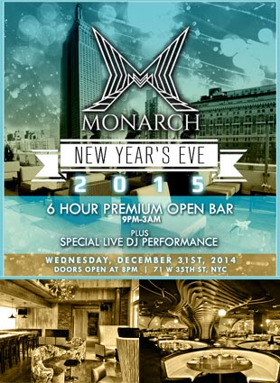 Monarch Rooftop Lounge New Years Eve 2021