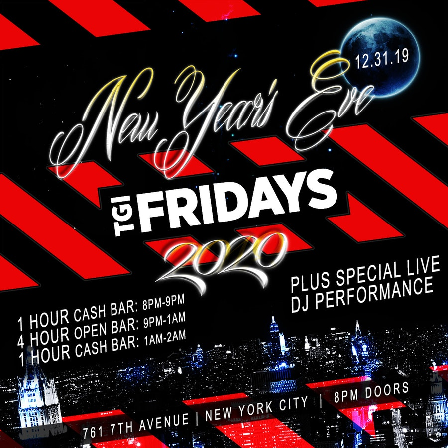 TGI Friday's Times Square New Years Eve 2018
