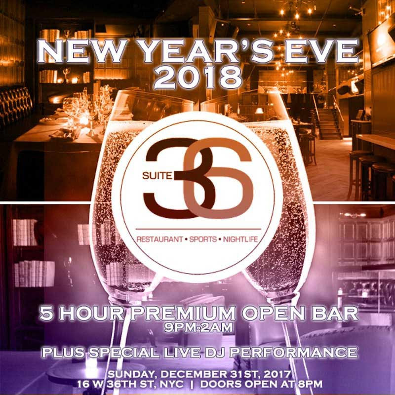 Suite 36 Times Square New Years Eve 2019