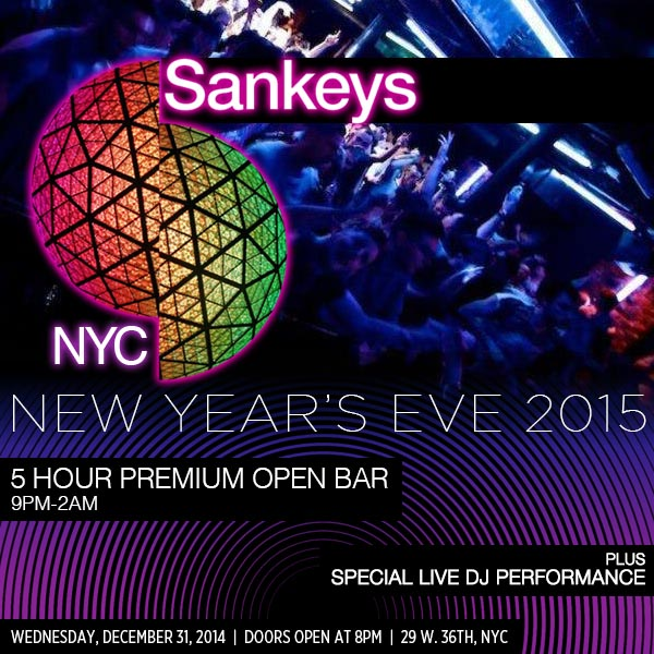 New Years Eve at Sankeys NYC | NYC New Years Eve 2021