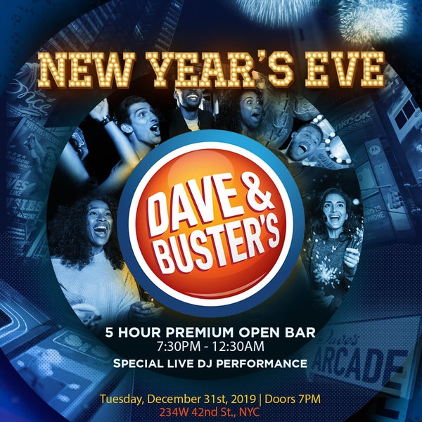 Dave and Busters Times Square New Years Eve 2018