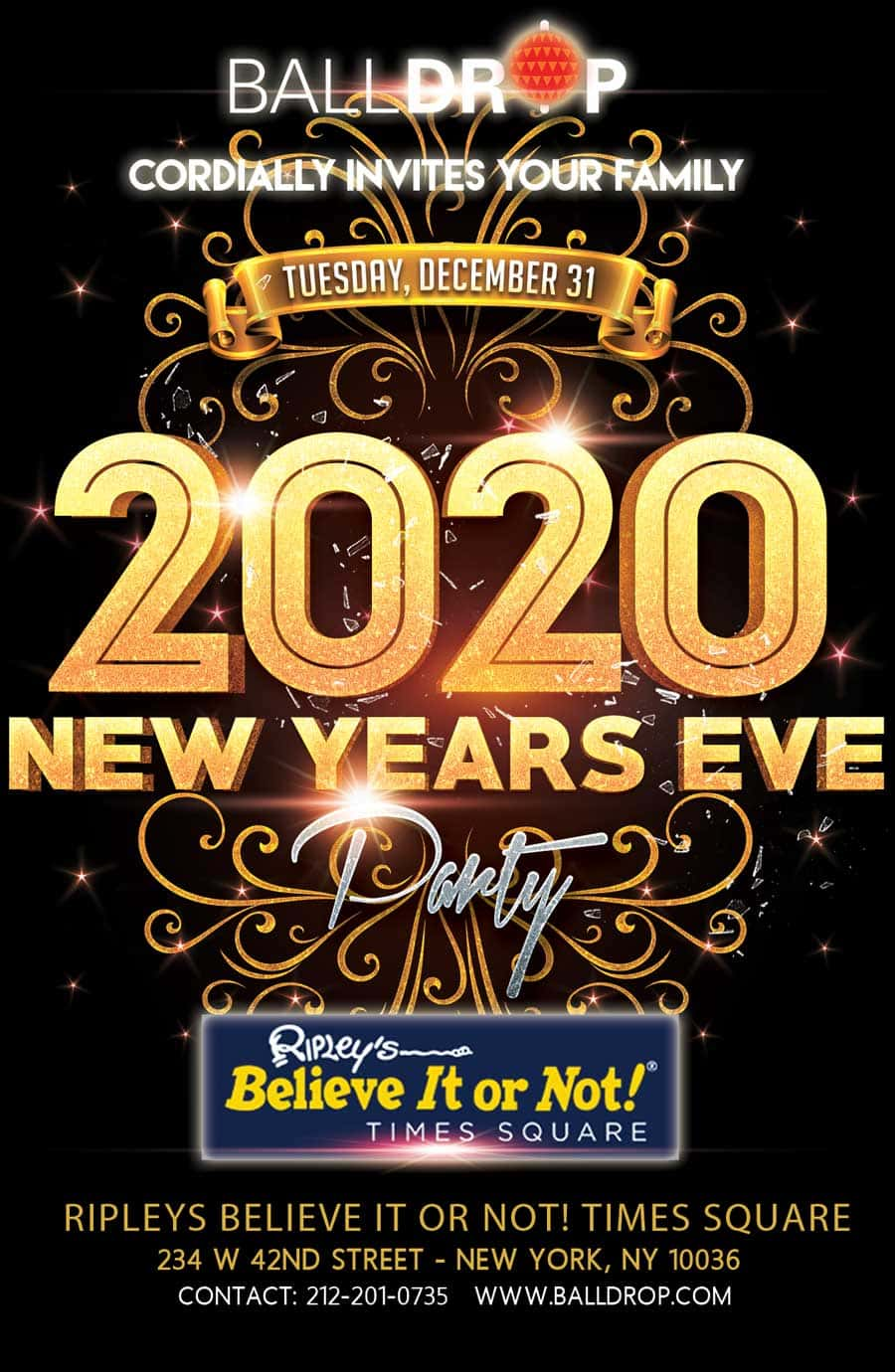 Ripley's Believe It Or Not Times Square New Years Eve 2022