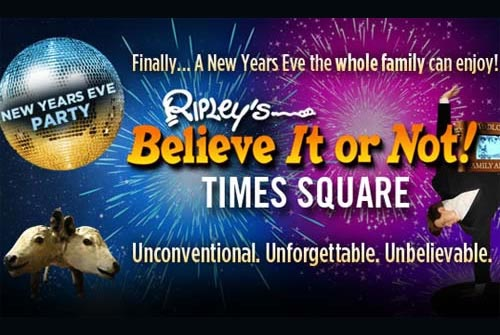 Ripley's Believe It Or Not NYC Times Square New Years Eve 2022