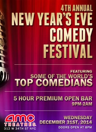 AMC 34 Comedy Festival New Years Eve 2021