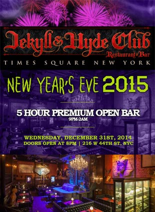 Jekyll and Hyde Club NYC Times Square New Years Eve 2022