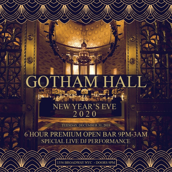 Gotham Hall NYC New Years Eve 2020