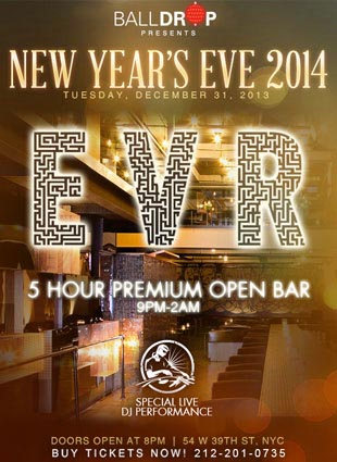 New Years Eve at EVR NYC | NYC New Years Eve 2021